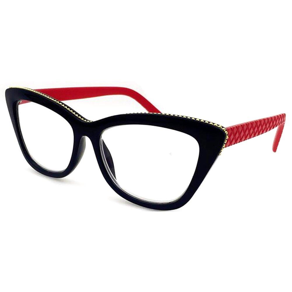 Haodasi Brille der Frauen Art und Weise Katzenauge Lesebrille Stärke ...