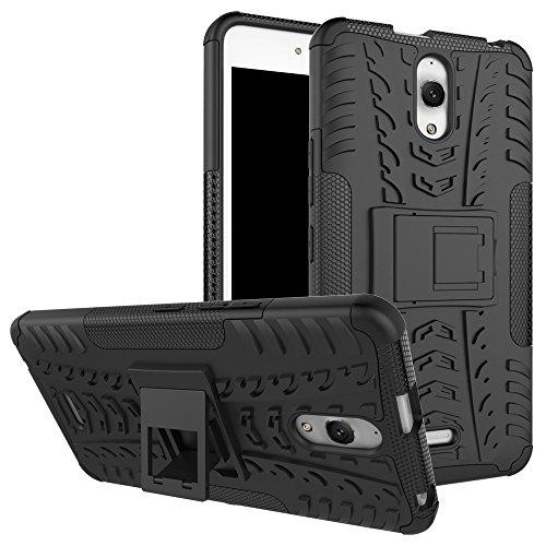 Alcatel OneTouch Pixi 4 6.0 inch Funda, TOTOOSE para Alcatel OneTouch Pixi 4 6.0 inch Tarea Pesada Alto impacto Shockproof Doble Capa 2 in 1 Rugged Cuerpo Combinado Híbrido Armadura Defender Protector negro
