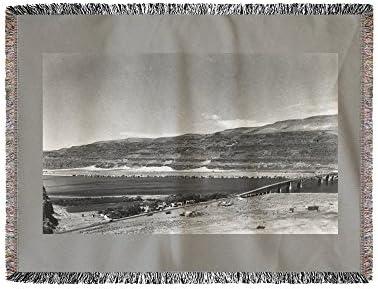 Vantage, Washington – antena View de la ciudad y puente (60 x ...