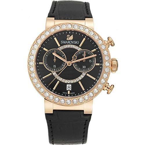 Swarovski Reloj analogico para Mujer de Cuarzo con Correa en Piel 5055209: Amazon.es: Relojes