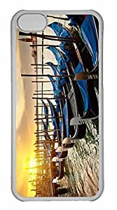 iPhone 5C Case, Personalized Custom Venice Sunset for iPhone 5C PC Clear Case