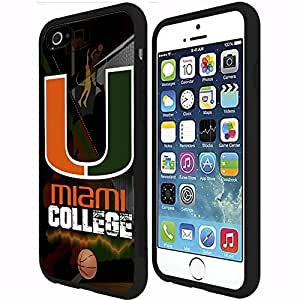 Miami Hurricane College Basketball Sports Rubber Snap on Phone Case (iPhone 6 Plus)