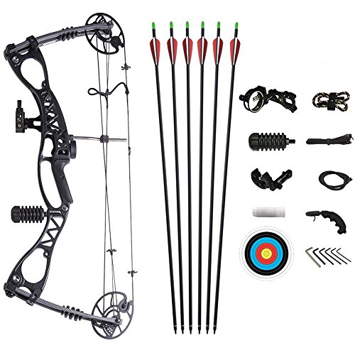 ATROPOS-127 Archery Hunting Compound Bow Adjustable Right&Left Handed Bow,35-65lbs Draw Weight