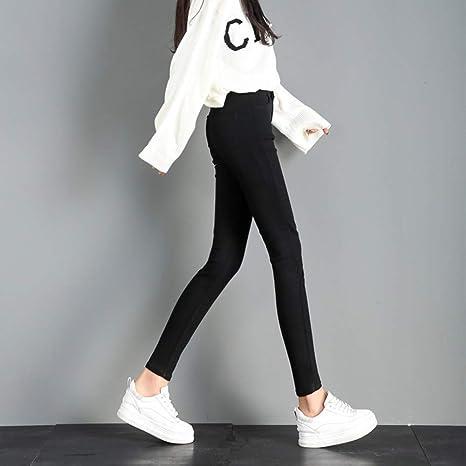321a9ec035 LXIANGP Pantalones para Mujer Cintura Alta Pantalones Ajustados Mujer pies  de Gran tamaño Pantalones de lápiz elástico Pantalones Delgados Pantalones  ...