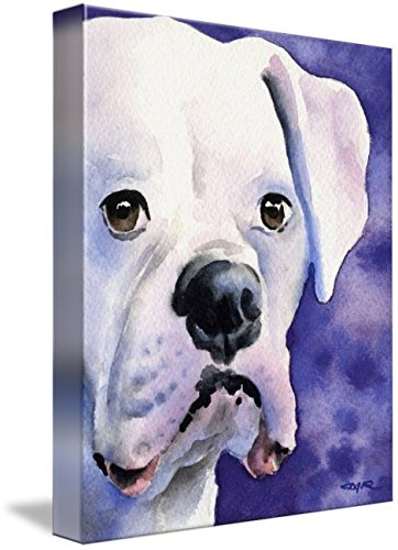 Imagekind Wall Art Print entitled White Boxer by David Rogers | 11 x 14