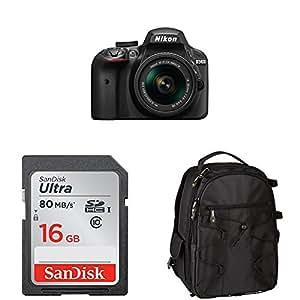 Nikon D3400 w/ AF-P DX NIKKOR 18-55mm f/3.5-5.6G VR (Black) Accessory Bundle