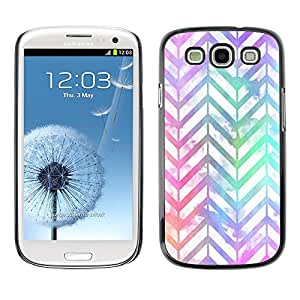 Plastic Shell Protective Case Cover || Samsung Galaxy S3 I9300 || Iridescent White Purple @XPTECH