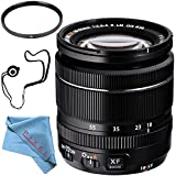 Fujifilm XF 18-55mm f/2.8-4 R LM OIS Zoom Lens 16276479 + 58mm UV Filter + Fibercloth + Lens Capkeeper Bundle