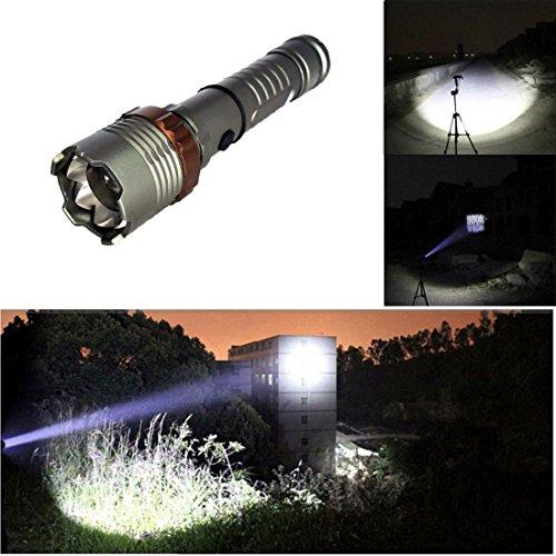 Contentment Aluminum Alloy Super Bright 2000 Lumen Torch Flashlight Color Gray (Car Light Shield compare prices)