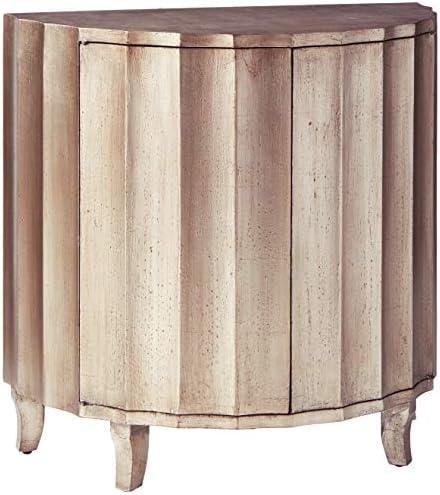 Stein World Furniture Gretta Cabinet, Silver Metallic