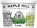 Maple Hill Creamery Greek Yogurt, Plain, 16 Ounce (Pack of 6)