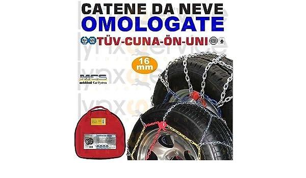 Melchioni 380008148 Cadenas de Nieve, homologadas cf1648 16 mm 4 x 4 para Furgonetas, SUV y Furgonetas, certificación TUV, Juego de 2: Amazon.es: Coche y ...
