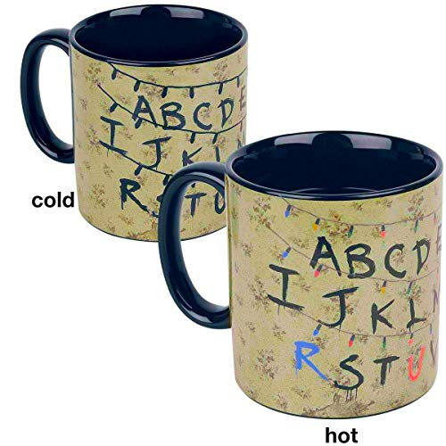 Funko Stranger Things Alphabet Wall Ceramic Coffee Mug Cup with Heat Reveal Graphics