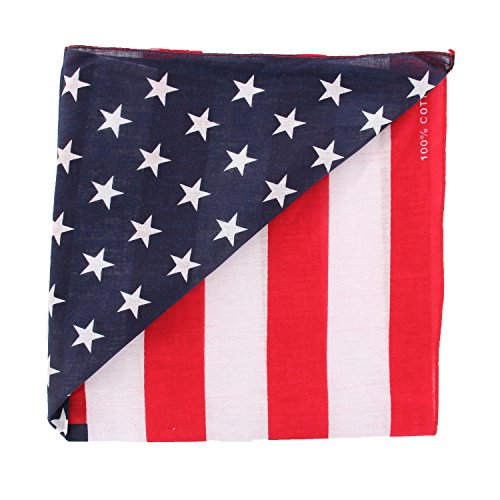 - Pack of 12 Patriotic American Flag Theme Novelty Handkerchief Bandana