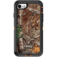 OtterBox Defender Series Case for iPhone 8 & iPhone 7 (NOT Plus) - Frustration Free Packaging - Realtree Xtra (Blaze Orange/Black/Xtra Design)