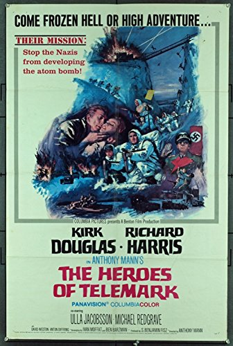 (The Heroes Of Telemark (1966) Original Movie Poster)