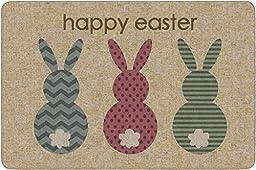 Flagship Carpets CN0630 Hoppy Easter Bunny Rug, Indoor Door Entrance Mat, Machine Washable, 0.375\