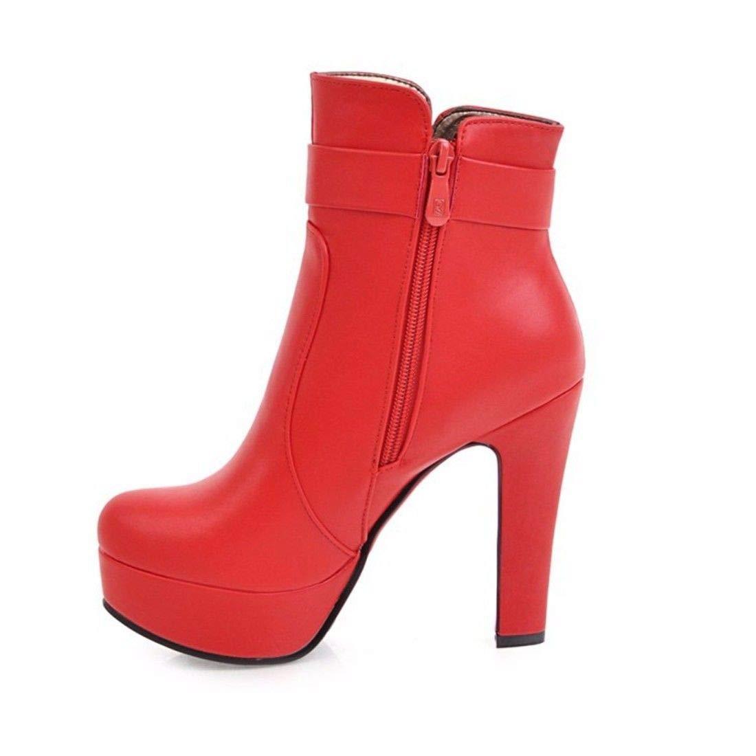 AIKAKA Frauen Herbst und Winter Winter Winter Europa und Amerika Sexy warme Kurze Stiefel High Heel Schuhe Stiefel be2a22