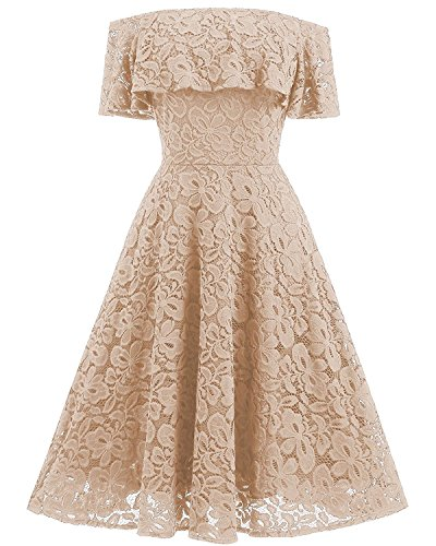 beige lace summer dress - 5