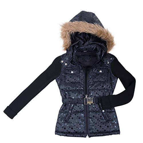 39766-typicalblack-14-16-girls-puffer-jacket-sweater-sleeves-coat-with-hood