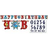 Jake and the Neverland Pirates Add an Age Letter Banner, 1 Piece, Made from Paper, Birthday, by Amscan