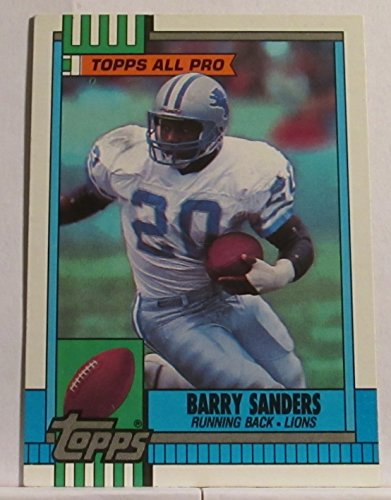 (BARRY SANDERS 1990 TOPPS ALL PRO FOOTBALL CARD #352 - DETROIT LIONS)