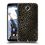 Official Cat Coquillette Berry Branches Black Gold Patterns 3 Soft Gel Case for Motorola Moto G (3rd Gen)