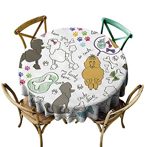 - SKDSArts Party Table Cover Seamless Pattern of Poodle Dogs D54,Table Flag Home Decoration