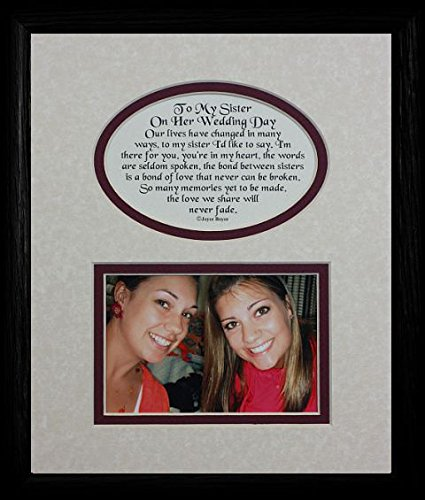 Amazon 8x10 To My Sister On Her Wedding Day Picture Poetry