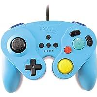 Manette Neo Retro Pad filaire bleu pour Nintendo Switch, Pro gamepad controller type Gamecube avec vibration