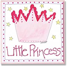 The Kids Room by Stupell Little Princess with Pink Crown Square Wall Plaque