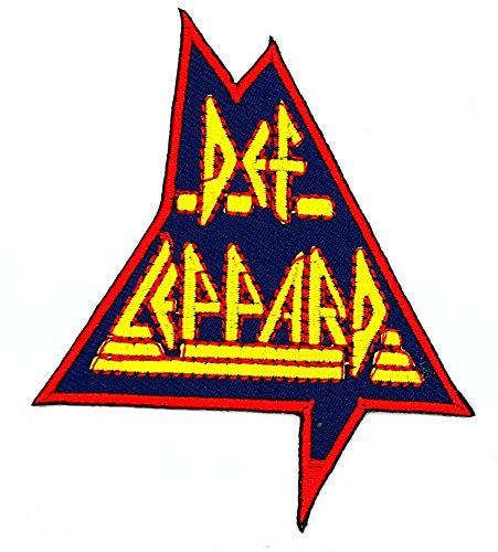 DEF LEPPARD Music Band Heavy Metal Punk Rock Logo iron on sew on patch Sign Badge Symbol Patch Iron on Applique Embroidered Jacket T shirt Costume