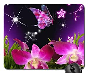 pink butterflies Mouse Pad, Mousepad (Butterflies Mouse Pad)