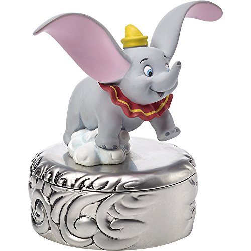 Precious Moments, Disney Showcase Dumbo Trinket Box, Taking Flight, Resin/Zinc Alloy, #171707 (Moments Box Precious Covered)