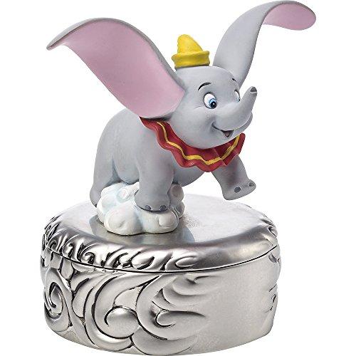 Precious Moments, Disney Showcase Dumbo Trinket Box, Taking Flight, Resin/Zinc Alloy, #171707 (Box Covered Moments Precious)