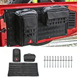 Pulidi Car Trunk Metal Organizer Shelves Car Storage Bag&Tool Kit Organizer Pockets Black for Jeep Wrangler JK 2007-2018