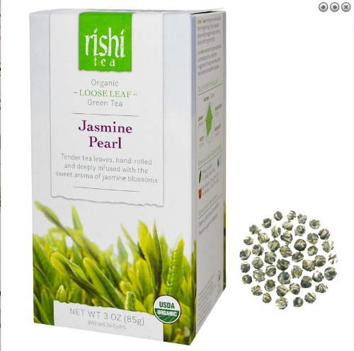 Rishi thé au jasmin bio Perle Loose Leaf Tea, 3 once Box (Pack de 2)