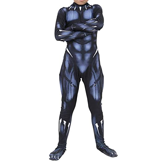 QQWE Marvel Hero Pantera Negra Traje Cosplay Traje Halloween ...