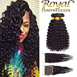 Brazilian Virgin Pineapple Deep Wave 3 Bundles with Closure Natural Color 10A Virgin Remy Hair with Lace Closure Free Part (18''20''22''+16''Closure)