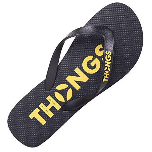 Thongs Heren Rubber Nieuwe Flip Flops - Sandalen Zwart Klassiek