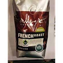 Allegro Coffee - Organic French Roast, Ground Coffee, 12 oz, (Pack of 3)