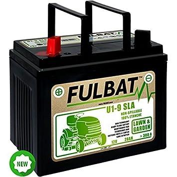 Batería Fulbat U1-9 para tractor cortacésped 12 V 28 Ah: Amazon.es ...