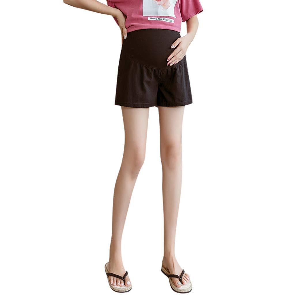 Clacce Damen Mammy Umstandsmode Umstandshose Umstandsleggings f/ür Schwangere Capri 3//4 Leggings//Hose Frauen Mutterschaft Schwangerschaft Hosen Hoch Taillierte Tummy Solid Cropped Hose