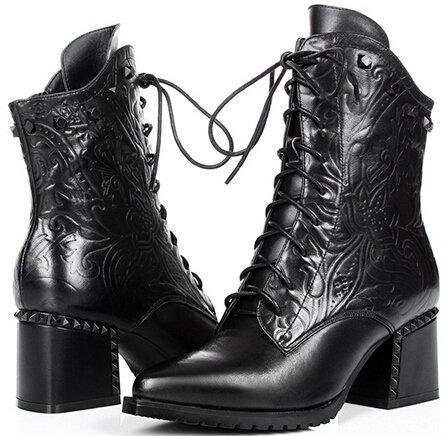 Laruise Women's Leather Chukka Boot Black F14buPCp