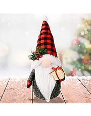 Actaday 1Pcs Swedish Plush Santa Gnomes, Handmade Gnomes Plush Christmas Decorations, Christmas Gnomes Decorations Clearance, Christmas Elf Decoration Ornaments Thanks Giving Day Gifts (Old Man)