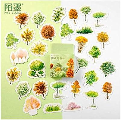 SDRTYHJ Pegatina 45 Unids/Pack Plantas Herbales Pegatinas Decorativas Scrapbooking Stick Label Diario Papelería Álbum Pegatinas 2 Bolsas Q: Amazon.es: Hogar