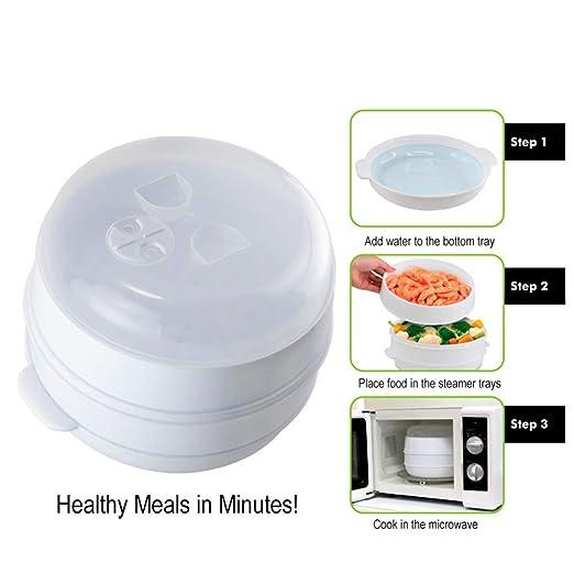 Haodan electronics Nivel 2 Microondas Vapor del alimento Libre de ...