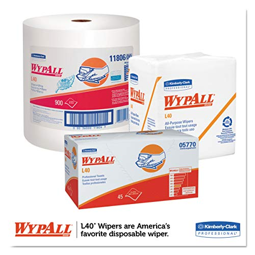WypAll 05860 L40 Towels, Dry Up Towels, 19 1/2'' x 42'', White (Roll of 200 Towels) by Wypall (Image #4)