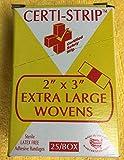 "Certi-Strips Adhesive Bandage 2"" X 3"" Woven 220-230"