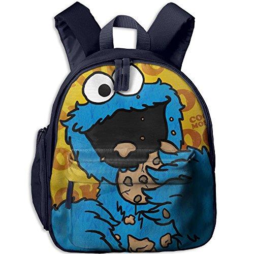 Baby Boys Girls Toddler HD-Cookie-monster Pre School Bag Backpack Satchel Rucksack -